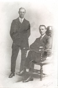 Gerald Edwards (seated) with Clarrie Bellot